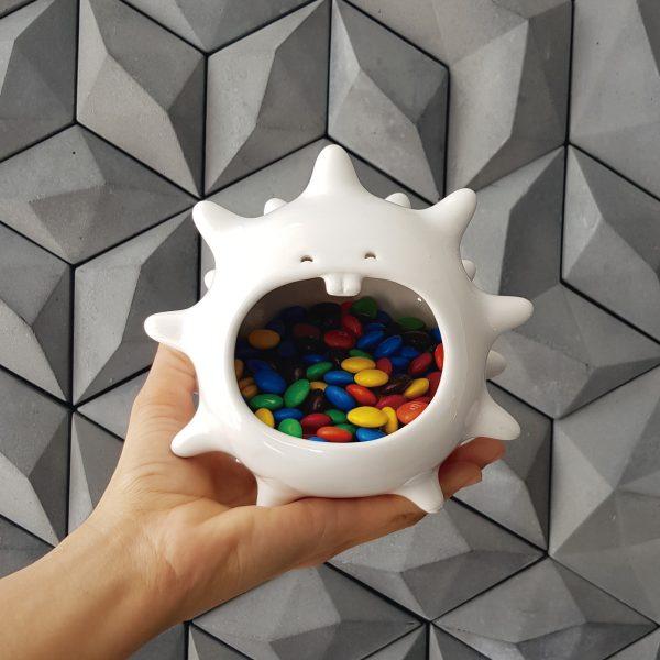 comelon erizo de ceramica marca tuio diseño mexicano contenedor dulces