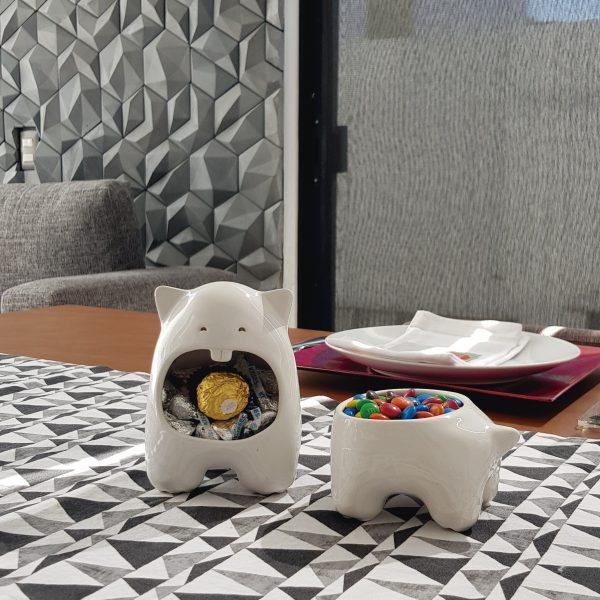 juego comelon huella tazon multiusos de ceramica marca tuio diseño mexicano