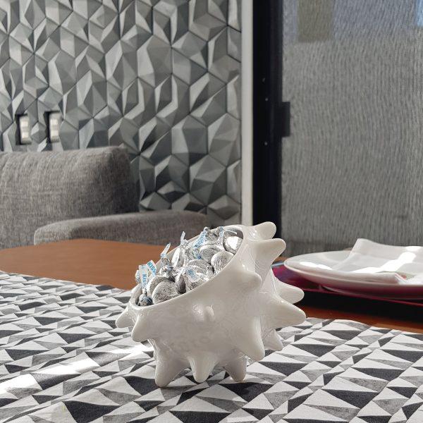 tazon erizo de ceramica marca tuio diseño mexicano hecho a mano