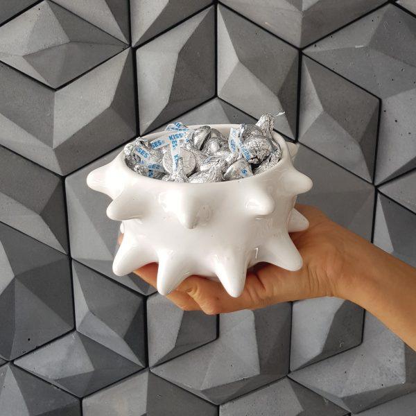 tazon erizo de ceramica marca tuio diseño mexicano artesanal