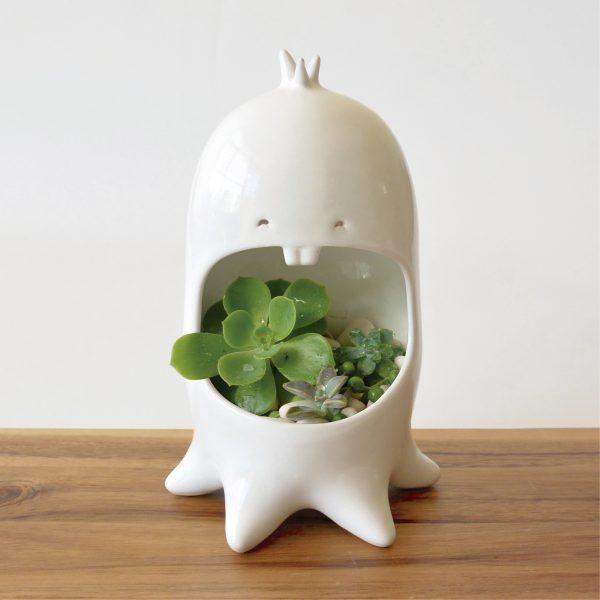 comelon pulpo de ceramica marca tuio diseño mexicano decoracion hogar plantas