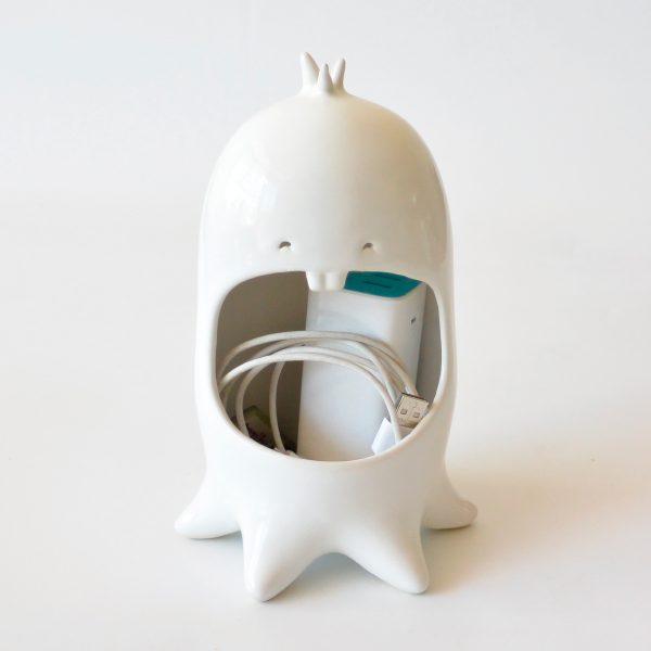 comelon pulpo de ceramica marca tuio diseño mexicano contenedor cables cargadores