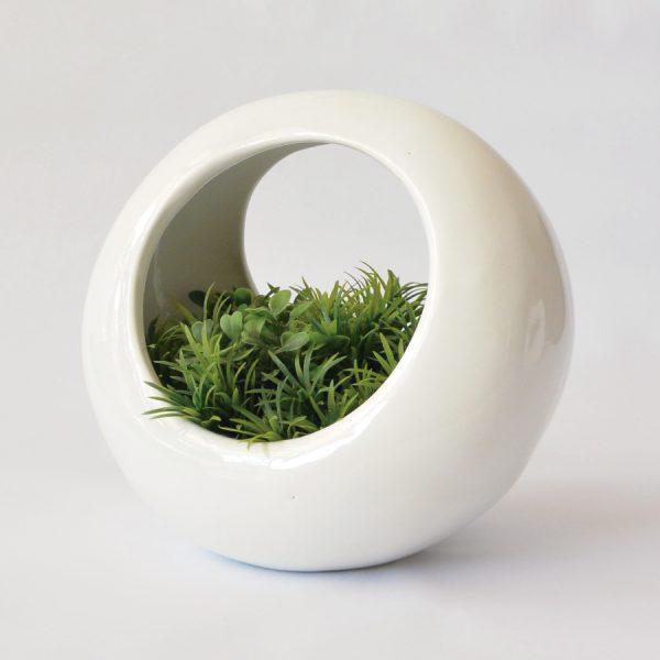 luna doble de ceramica marca tuio diseño mexicano decoracion plantas maceta