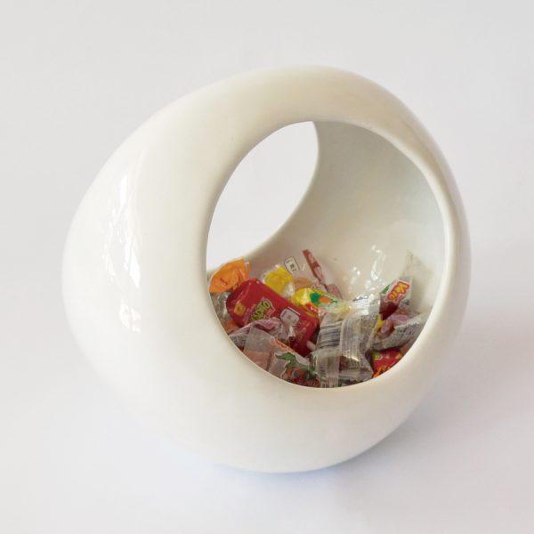 luna doble de ceramica marca tuio diseño mexicano contenedor dulces casa hogar