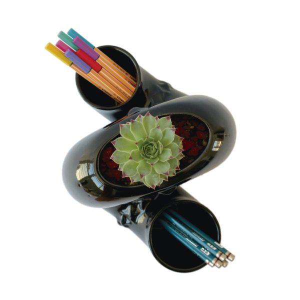 jarra inseparable ceramica marca tuio diseño mexicano maceta contenedor plantas decoracion