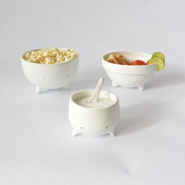 juego de tazones cajete de ceramica marca tuio diseño mexicano alimentos cocina