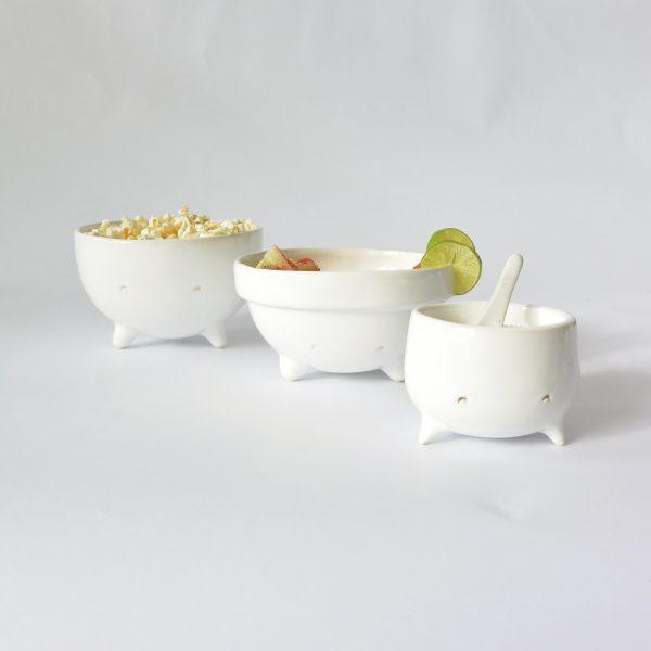 juego de tazones cajete de ceramica marca tuio diseño mexicano decoracion hogar casa