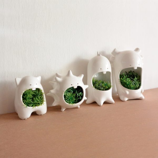 juego comelones casa de ceramica marca tuio diseño mexicano cactus suculentas plantas