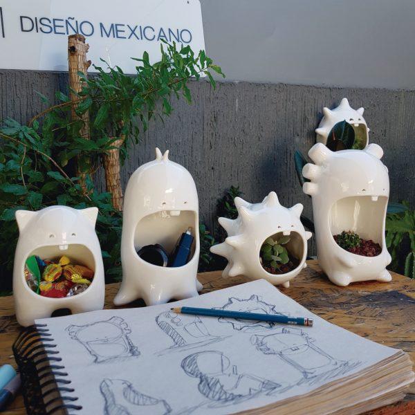 juego comelones casa de ceramica marca tuio diseño mexicano contenedores originales
