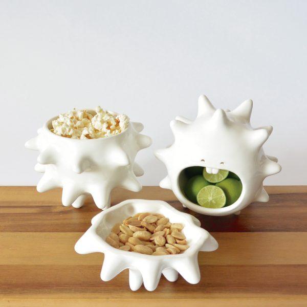 juego tazones erizo de ceramica marca tuio diseño mexicano hecho a mano