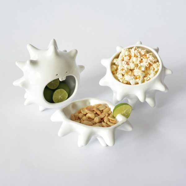 juego tazones erizo de ceramica marca tuio diseño mexicano regalo corporativo
