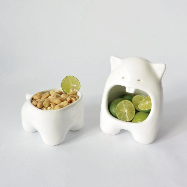 juego comelon huella tazon multiusos de ceramica marca tuio diseño mexicano regalo corporativo