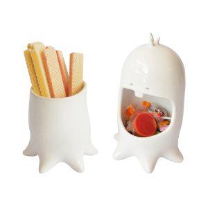 juego maceta y contenedor comelon pulpo de ceramica marca tuio diseño mexicano dulces