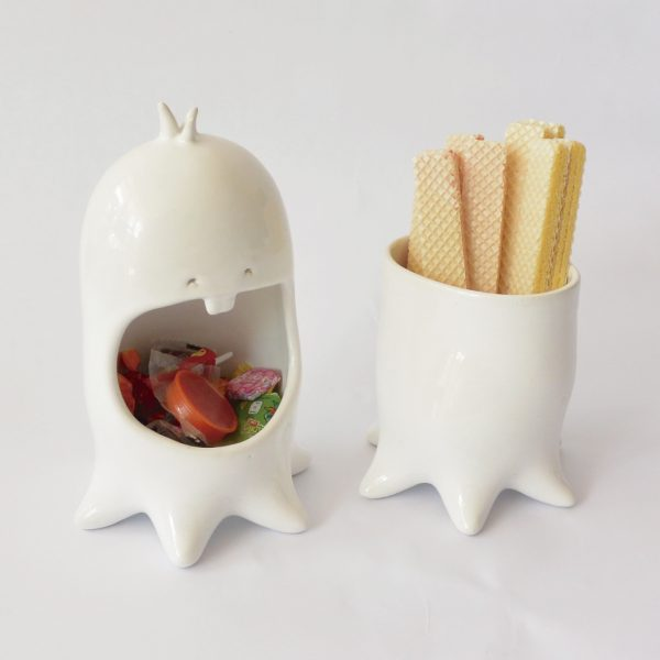 juego maceta y contenedor comelon pulpo de ceramica marca tuio diseño mexicano regalo corporativo