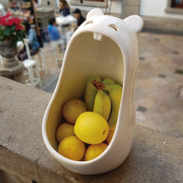 mega comelon pera de ceramica marca tuio diseño mexicano frutero cocina