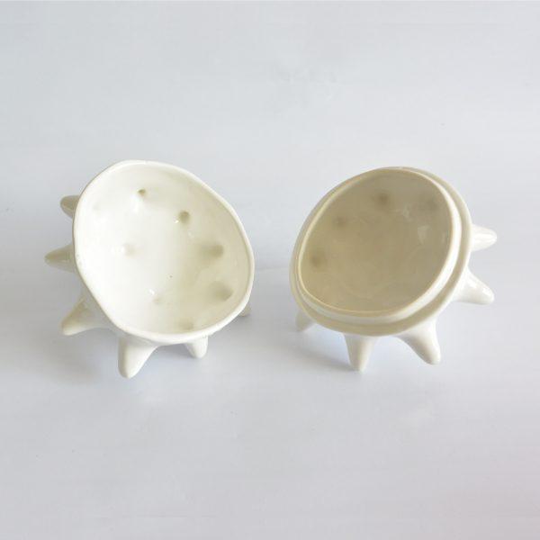 tazon erizo con tapa de ceramica marca tuio diseño mexicano artesanal