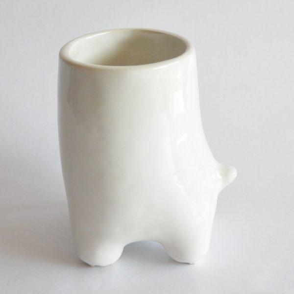 vaso comelon huella de ceramica marca tuio diseño mexicano artesanal